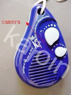 kajoin 1280X960 Shower Radio bathroom spy Camera With Motion Detection and Remote Control Function 32GB