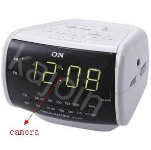 kajoin FM Wireless Radio Clock Motion Detection Hidden Camera DVR 16GB