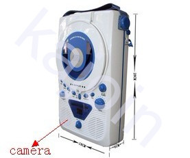 kajoin European BONUS Bathroom waterproof radios with CD player prenatal machine Hidden bathroom Spy Camera Motion Detection Waterproof Camera 32GB