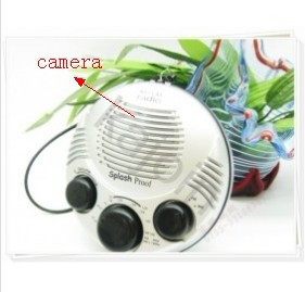 kajoin Shower Radio Hidden bathroom Spy Camera Motion Detection Waterproof Camera 32GB