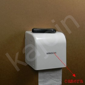 kajoin 1280X960 Toilet roll box Hidden Camera With Motion Detection and Remote Control Function 16GB
