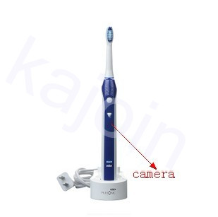 kajoin 1280x960 Motion Detection Spy Toothbrush Hidden Bathroom Spy Camera DVR 32GB